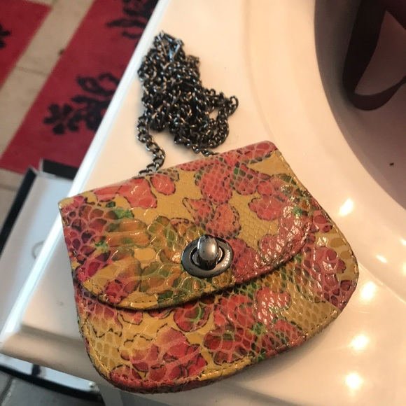 hobo international Handbags - Colorful Crossbody Faux Snakeskin Mini Hobo Purse
